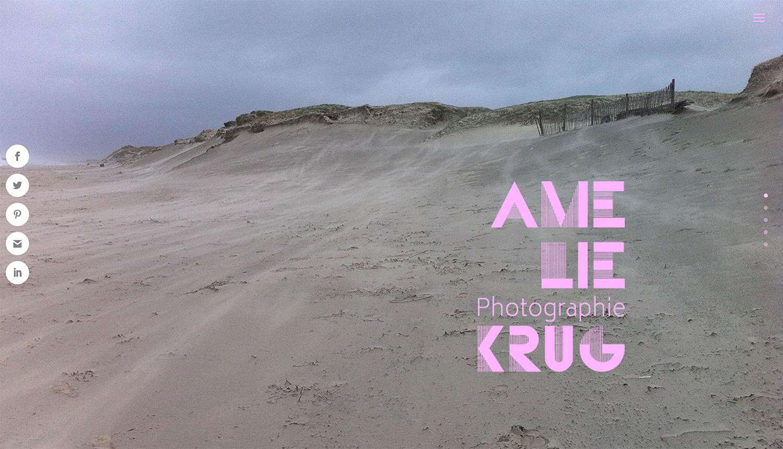 Site web Amélie Krug