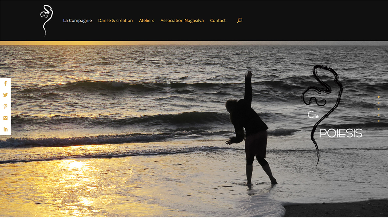 Site web Compagnie Poiesis