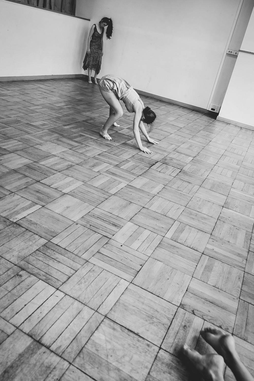 Répétition Ariane, création de danse contemporaine